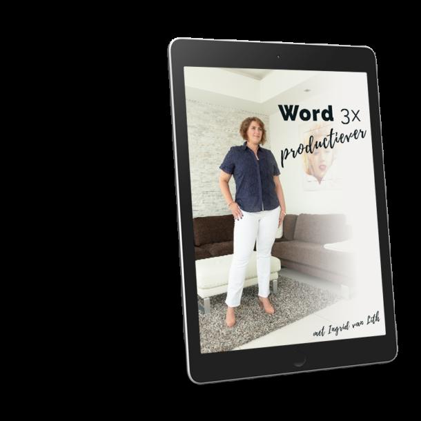 Word 3x Productiever | RMRKBL